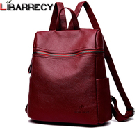 Fashion Backpack Female Brand Leather Backpack Women Large Capacity Bookbag Simple Shoulder Bags for Women Mochilas Mujer 2018