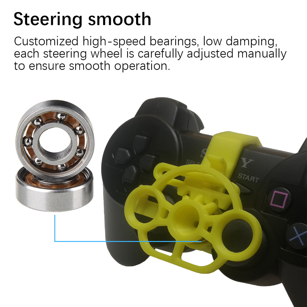 Gaming Racing Wheel 3D Printed Mini Steering Wheel Add On For PlayStation 3 PS3 Controller