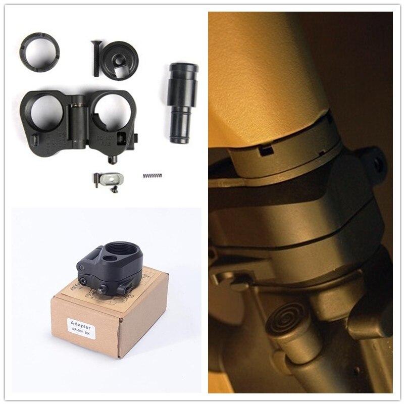 Adaptateur de Stock pliable tactique AR pour la série M16/M4 SR25 GBB (AEG) pour pièces Airsoft/équipement Airsoft