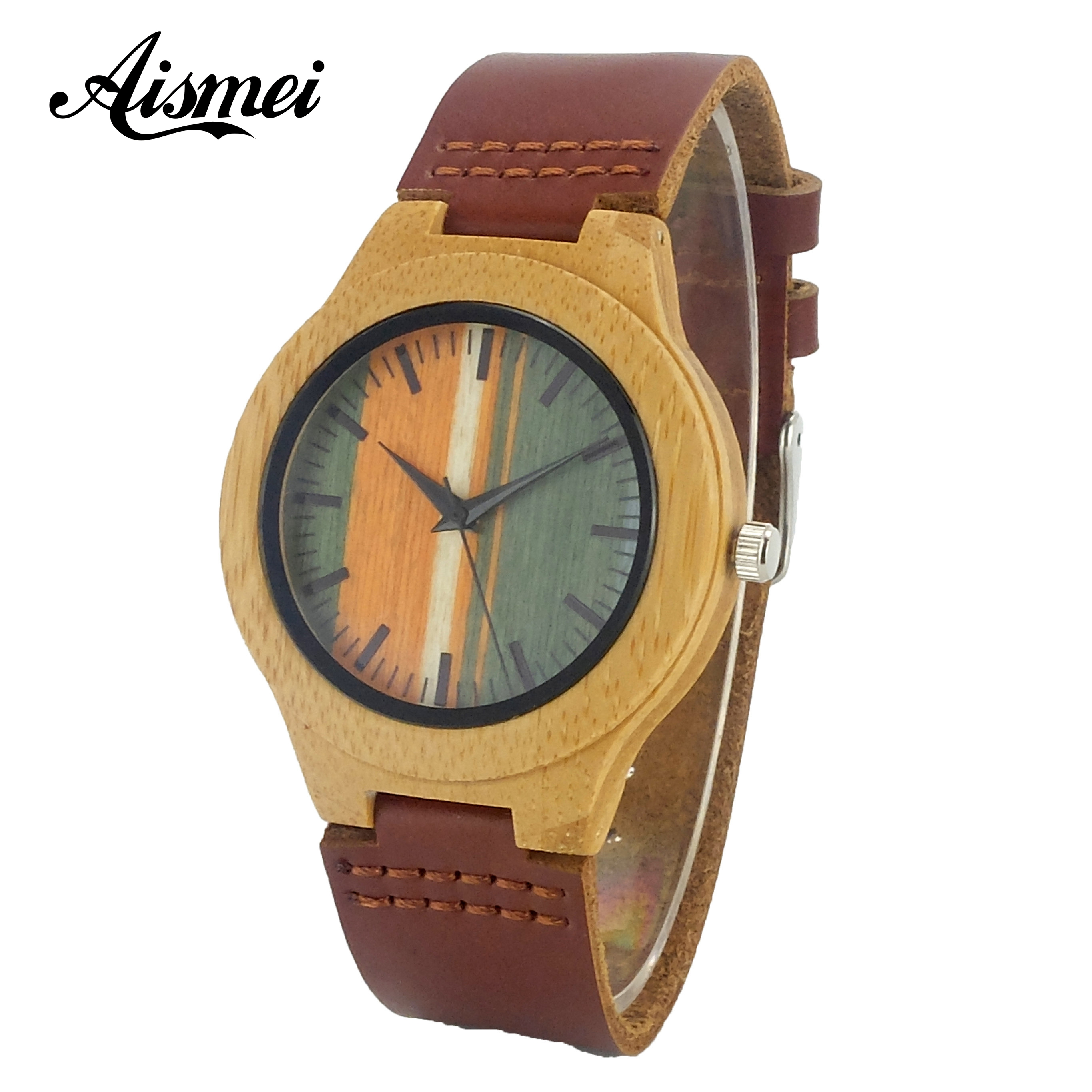 2018 Luxury Brand Wood Women Watches Ladies Genuine Leather Band Watch Wooden Wristwatches relogio feminino drop shipping bobo bird brand new sun glasses men square wood oversized zebra wood sunglasses women with wooden box oculos 2017