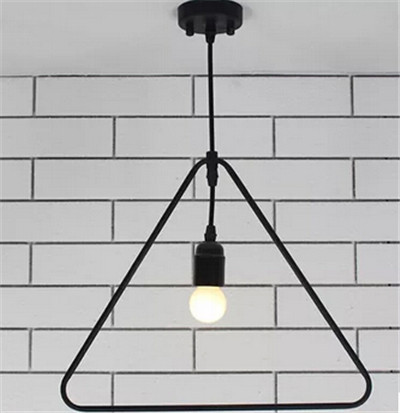 2015 1 PCS European creative geometry shape droplight brief iron pendent lamp for dining room bar droplight E27 90-260v N1113-2 modern creative nordic1 3 5 ring shape acryl pendent lamp for hall restaurants dining room hanging lamp ac 90 265v a133