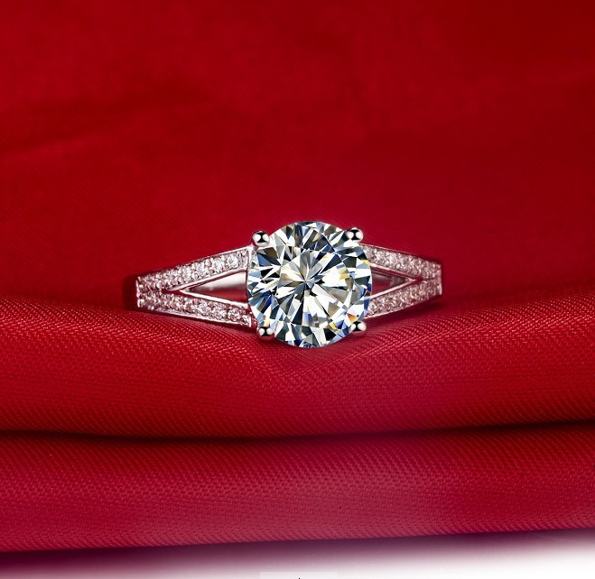 Очаровательный настоящий Муассанит ювелирные изделия Тест Положительный 2CT Твердые 585 Белое золото обручальное кольцо синтетическое драгоценный камень ювелирные изделия 14 карат золото