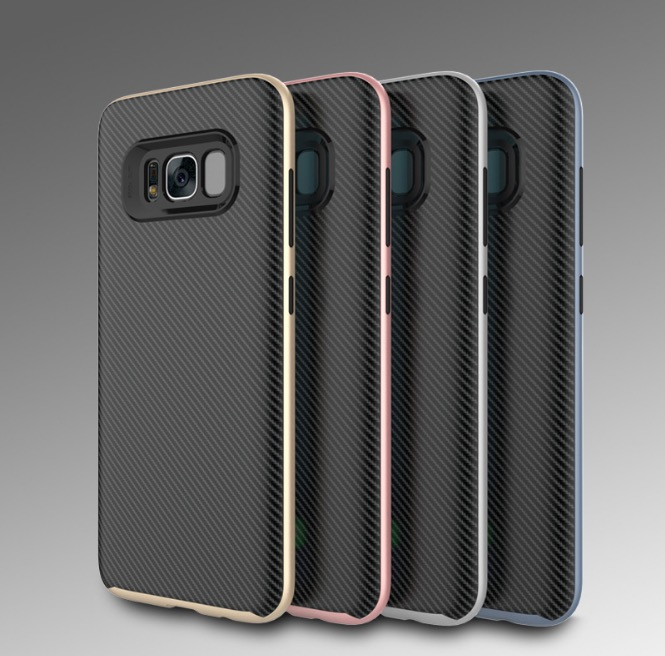 Wholesale 2000pcs Luxury Carbon Fibre Rugged Shockproof TPU Rubber Bumper Case Cover For Galaxy S8 Plus
