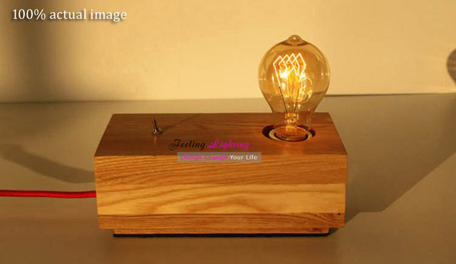 Online shop modern wooden table lamp creative fashion design modern wooden table lamp creative fashion design original wood table lamp contemporary braided wire edison light bulb desk light greentooth Choice Image