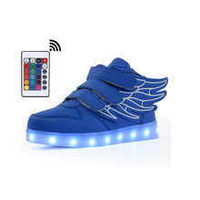comfortable autumn bright Led Light Up Shoes With Remote Controller for Boys Glowing Sneakers Children shoes
