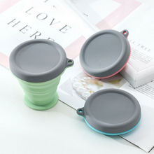 Portable Silicone Telescopic Drinking Collapsible Folding Cup Travel Camping  Silica Gel