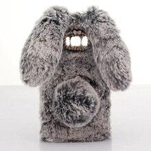 Plush Bunny Case for Samsung Galaxy J7 NEO J701M J7 Nxt J701F Core DUOS Soft Fur Cute 3D Rabbit Ears TPU Diamond Case Cover