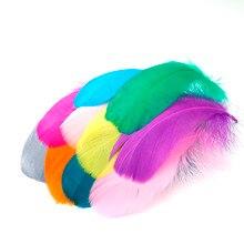 50 шт. плавающие перья 11 цветов гусиные перья 8-13 см оперение для свадебного платья шляпа волосы серьги украшения Ремесло изготовление