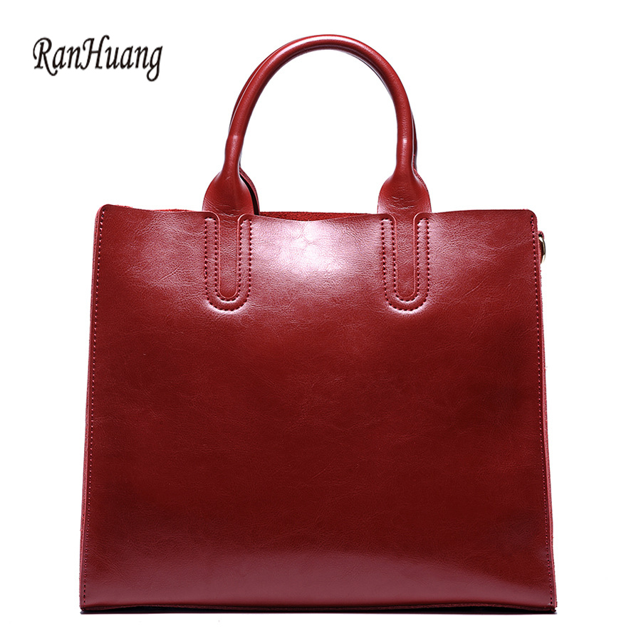 RanHuang High Quality Women Genuine Leather Handbags New 2018 Large Handbags Women's Fashion Shoulder Bags Brief Messenger Bags стоимость