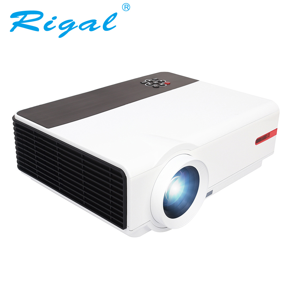 Rigal Projector RD808A 5500 Lumen HD Projector LED WIFI 6.0 Android 3D Beamer RD808 1280*800 LCD HDMI VGA USB TV Video Projector weshow v3 200lm 1280 x 800 rgb 3 color dlp hd mini 3d home projector w hdmi usb audio silver