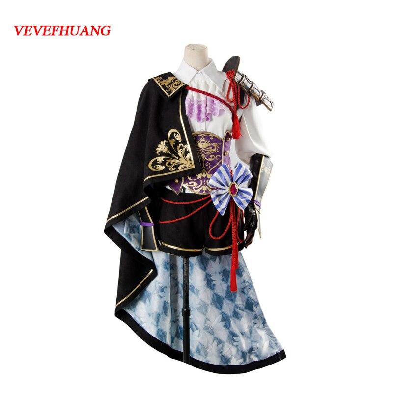 VEVEFHUANG 2018 Game Sengoku Night Blood Mori Ranmaru Battle Uniform Cosplay Costume For Halloween Carnival