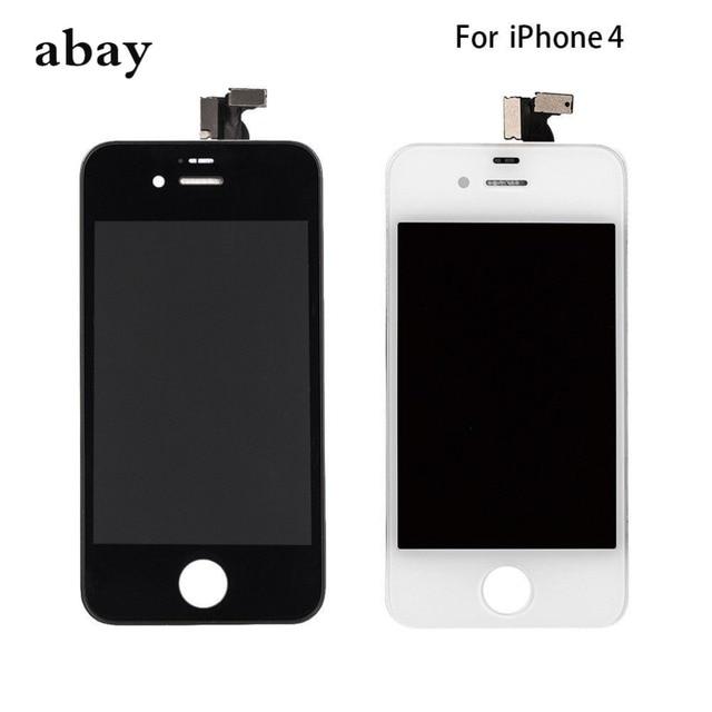 Aaa iPhone 4 GSM A1332 CDMA A1349 4 4S LCD ディスプレイタッチスクリーンデジタイザー交換モジュール GSM/CDMA 液晶画面デッドピクセル