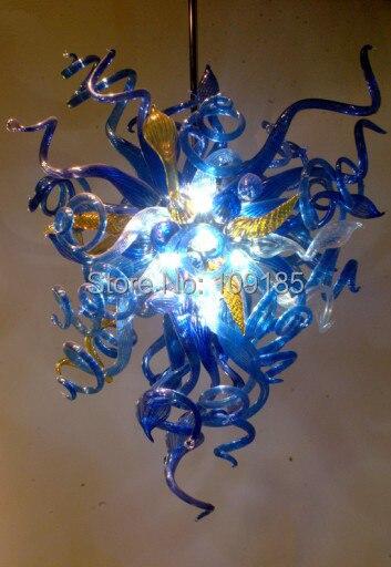 Italy Design Cobalt Blue Art Glass Chandelier Lighting -28inches чехол на сиденье skyway chevrolet cobalt седан ch2 2