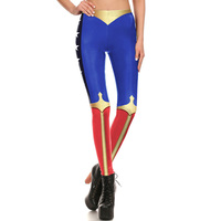 1692 Fitness Elastic Women Leggings Sexy Girl Slim Fit Workout Pants Trousers Comic Wonder Woman Avengers