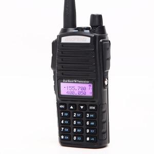 Image 4 - 1 adet/2 adet Walkie Talkie Baofeng UV 82 radyo istasyonu 5W taşınabilir Baofeng UV 82 radyo amatör BF UV82 çift PTT İki yönlü radyo 2 PTT
