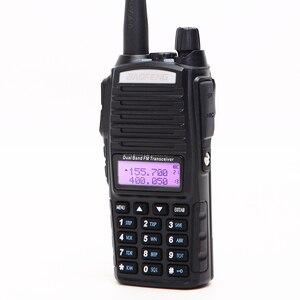 Image 4 - 2Pcs Baofeng UV 82 5W Portable UV82 Walkie Talkie Dual Band 2 PTT VHF UHF  UV 82 Ham Amateur Radio Transceiver + NA 771 Antenna