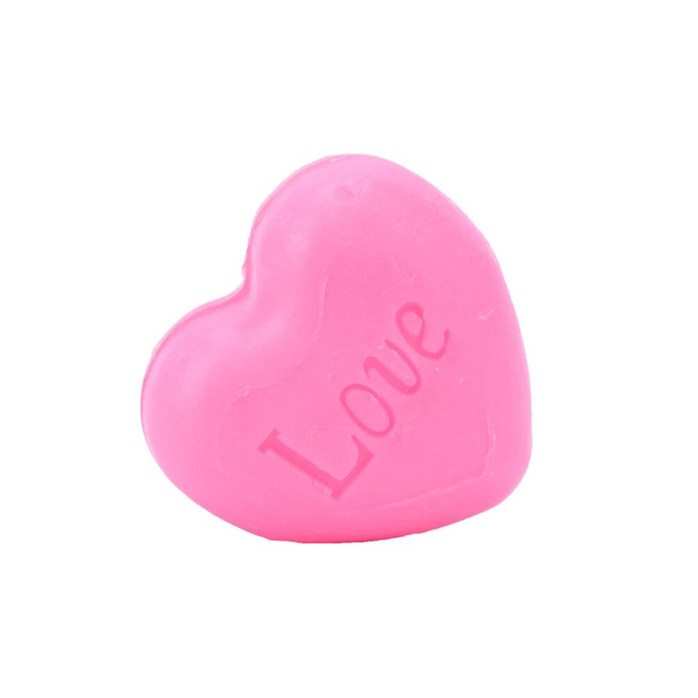 Купить с кэшбэком Handmade Love Heart-shaped Design Bath Soap Wedding Party Love Gift Valentine Gift