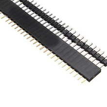 Promotion! 5 PCS Pack 40 Pin 2.54mm Single Row Straight Male + Female Pin Header Strip black