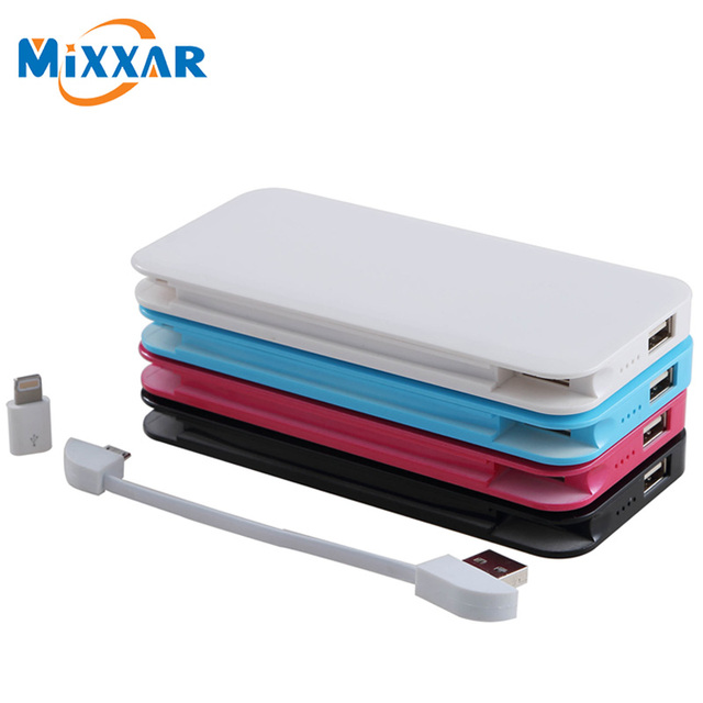 Zk30 mixxar 5000 mah banco de alimentación externa powerbank copia de seguridad inteligente usb puerto del cargador de batería para xiaomi para lenovo android teléfono