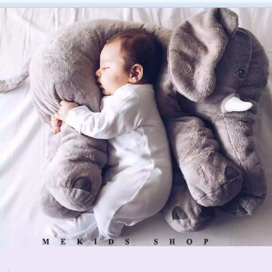 60cm baby Appease Sleep pillow Plush Stuffed Toys cute animals Elephant candy colors soft toys for Kids birthday Gifts hot sale cute dolls 60cm oblong animals pillow panda stuffed nanoparticle elephant plush toys rabbit cushion birthday gift