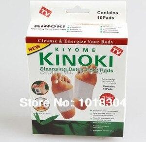 Image 1 - Opakowanie detaliczne 100 szt. 4Y Cleansing Detox Foot Kinoki Pads oczyść pobudź swoje ciało (1 partia = 5 pudełek = 100 sztuk = 50 sztuk łatek + 50 sztuk kleju)