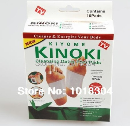 Retail Box 100pcs 4Y Cleansing Detox Foot Kinoki Pads Cleanse  Energize Your Body(1lot=5Box=100pcs=50pcs Patches+50pcs Adhesive)