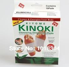 Retail box 100pcs 4Y Cleansing Detox Foot Pads Kinoki Cleanse Energize Your Body (1lot = 5Box = 100 stuks = 50 stuks Patches + 50 stuks Adhesive)