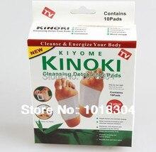 Розничная продажа box 100 шт. Очищение Detox подушечки Kinoki очистить и оживить ваше тело (1 лот = 5 Box = 100 шт. = 50 шт. патчи + 50 шт. клей)
