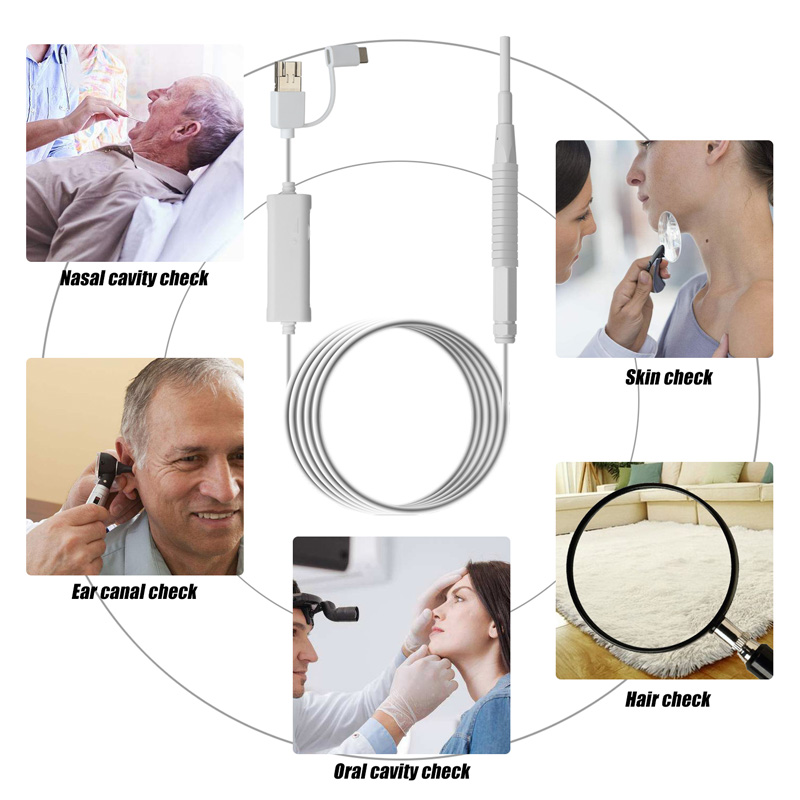 New 3 In 1 Medical Otoscope 3.9Mm Lens Ear Cleaning USB Endoscope HD Visual Ear Spoon For PC Windows Inspection Camera