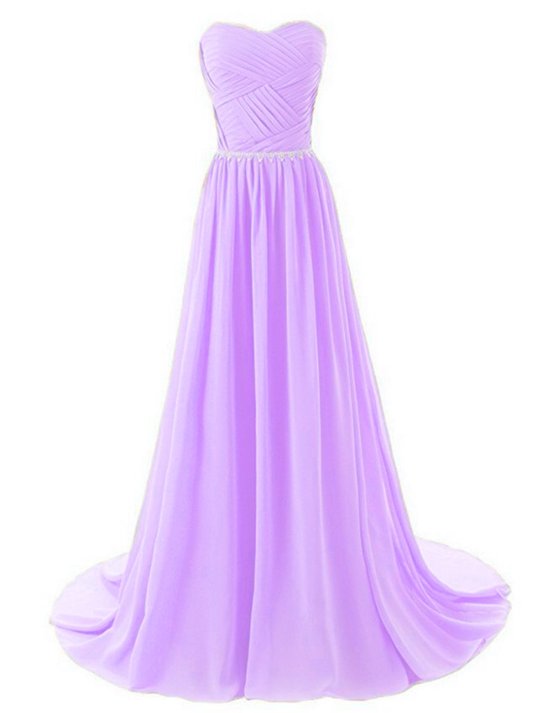 Gardlilac Шифон Bridesmaid Dress Long Plus Size тәтті - Үйлену кешкі көйлектер - фото 5