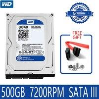 WD BLUE 500GB Internal Hard Drive Disk 3.5 7200RPM 16M Cache SATA III 6Gb/s 500G HDD HD Harddisk for Desktop Computer