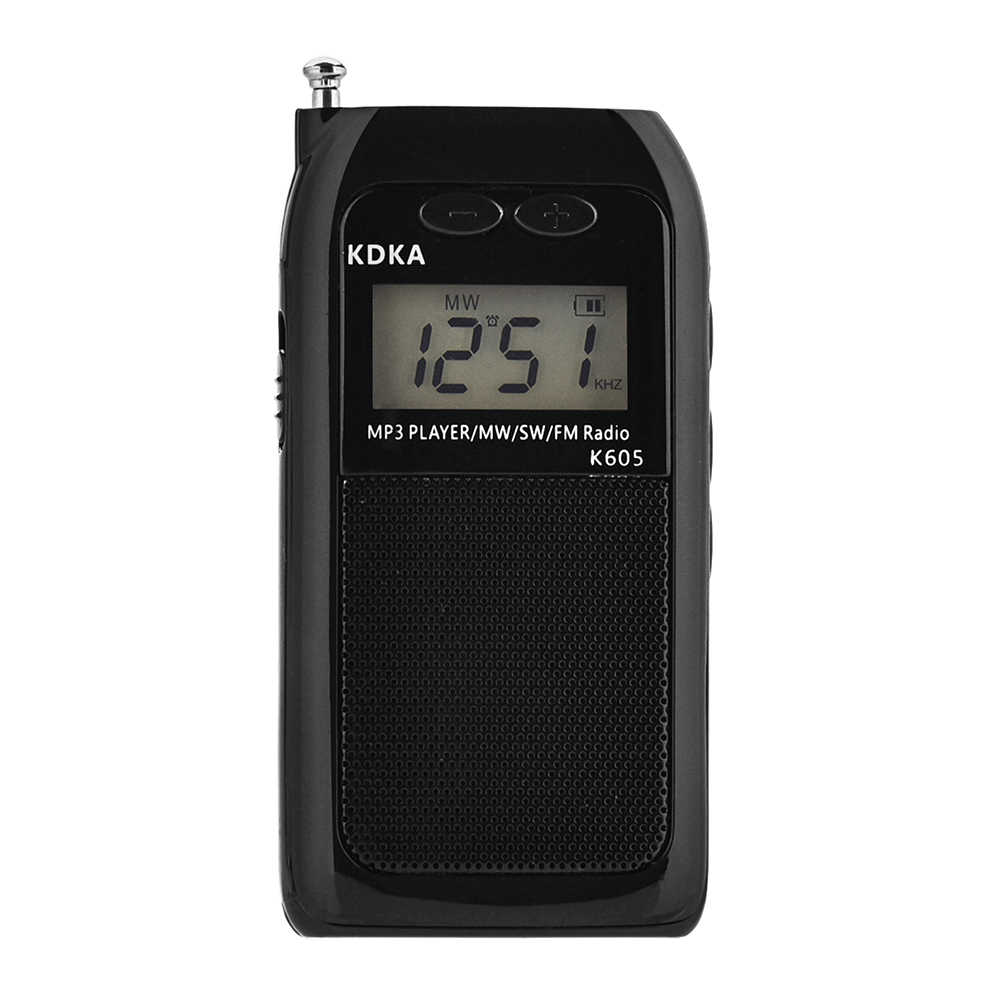 Mini Portatile Display LCD Pocket Radio Fm Am Sw Mw Sintonia Digitale Ricevitore Radio HIFI Suono Mp3 Musica Lettore Video con il Trasduttore Auricolare