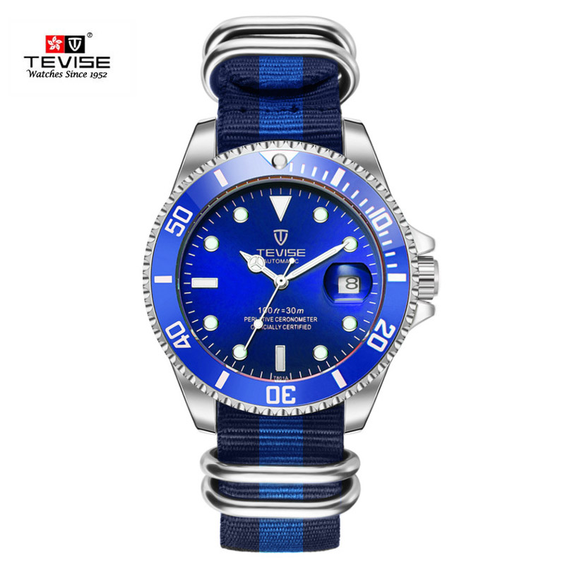 Hot Tevise Top Brand Men Mechanical Watch Automatic Role Fashion luxury Submariner Clock  Male Reloj Hombre Relogio Masculino tevise fashion sport automatic mechanical watch men top brand luxury male clock wrist watches for men relogio masculino t629b