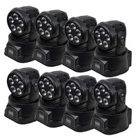 Proffessional 5*18 8 pçs/lote pro luz moving heads w RGBAW UV 6 in1 led mini moving head wash luzes do palco