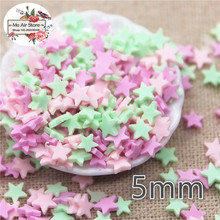 30g polymer clay mix color star slice flat nail Art Supply Decoration Charm Craft
