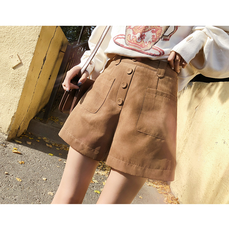 Mishow 2018 New Autumn Hot Fashion Women Shorts High Waist Casual  Women Short Pants Wide Leg Pants MX18C2450