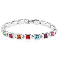 Austrian Crystal From Swarovski Bracelets Bangles Brand Jewelry Fashion Accessories For Women White Gold Plated Bijouterie