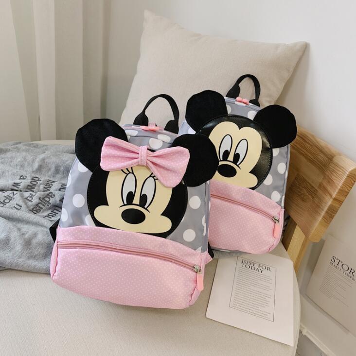 Hot Mickey&Minnie Children Backpacks Kindergarten Schoolbag Kids Backpack Children School Bags Baby Girls Boys Backpacks