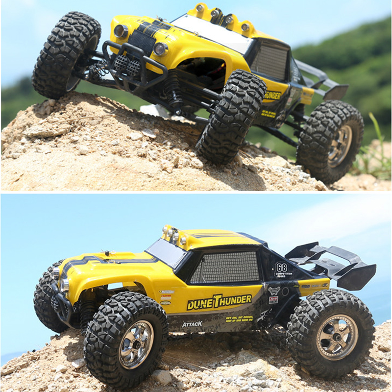 все цены на New Hot sales Toys RC Car HBX 12891 1/12 2.4G 4WD Waterproof Hydraulic Damper RC Desert Buggy Truck with LED Ligh