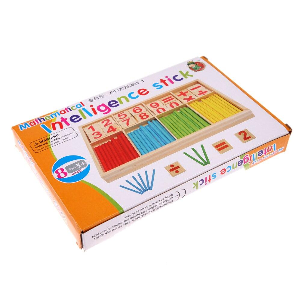 Houten nummers geteld speelgoed vroeg leren tellen educatief - Leren en onderwijs