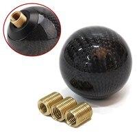 Black Carbon Fiber 5 Speed 6 Speed MT Fit Manual Transmission Gear Shift Knob Shifter For