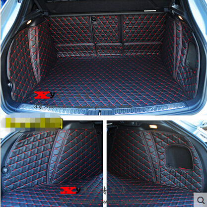 Good carpets! Car trunk mats for Porsche Macan 2018-2014 durable boot carpets cargo liner mat for Macan 2017,Free shipping custom car mat trunk cargo liner for porsche 911 cayman cayenne macan panamera car trunk pad car accessories car styling