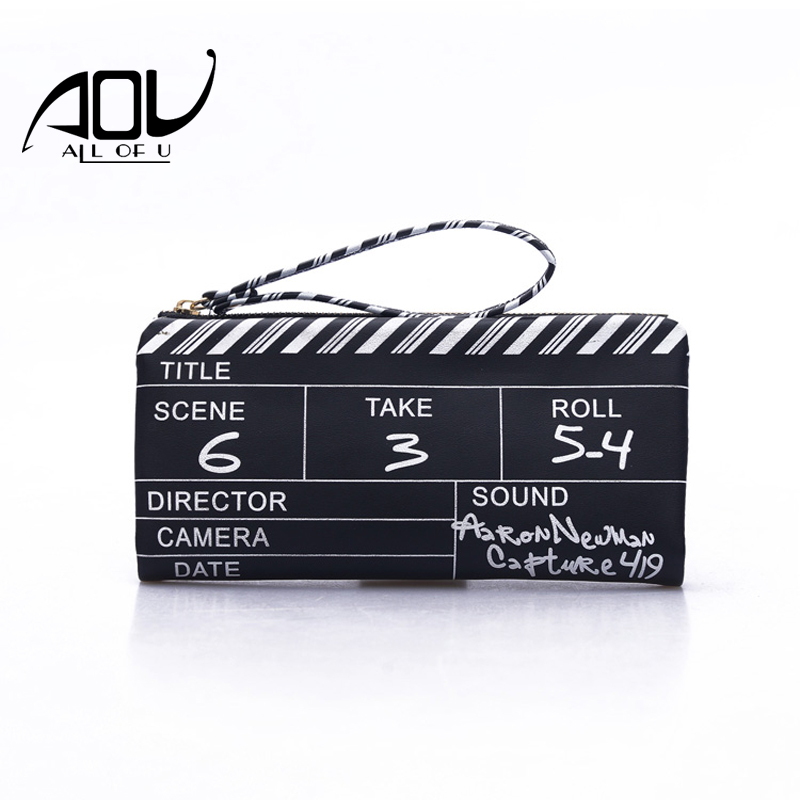 New Arrive Women Wallet Clutch Bag 2018 Hot Selling Designer Film NG Board  Clutches Girls Envelope Movie Clapperboard Phone Bag