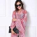 spring scarf women hijab geometric young fashion stitching brand shawls brand 200*90 size women chiffon wraps scarf