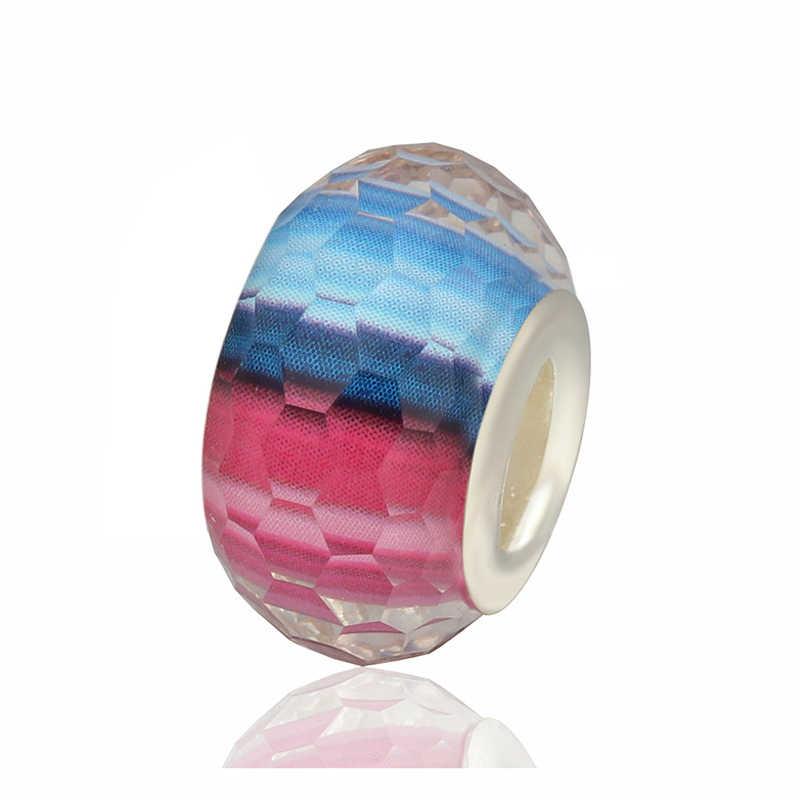 New Arrived Murano Color Resin Beads Fit Original Pandora Charms Bracelets & Bangles for Women Handmade Jewelry Berloques Bijoux