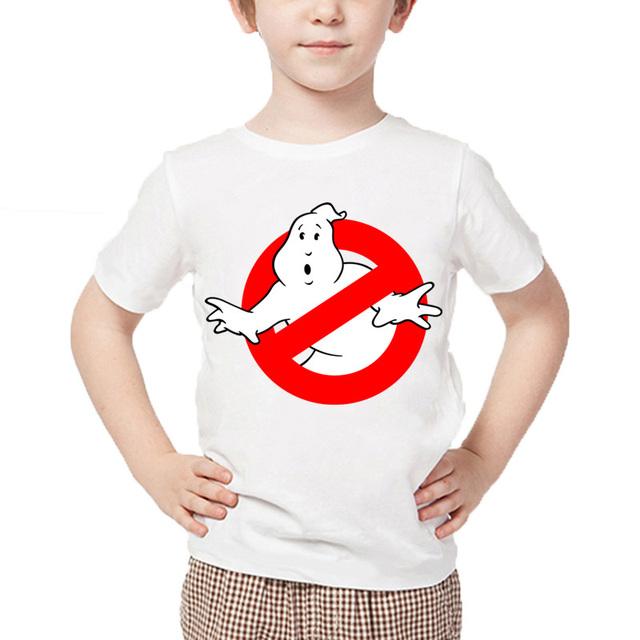 Cartoon Ghostbusters Funny Cotton T-Shirt Children's Casual Wear Baby Boy/Girl Short Sleeve Summer Tops Short Sleeve