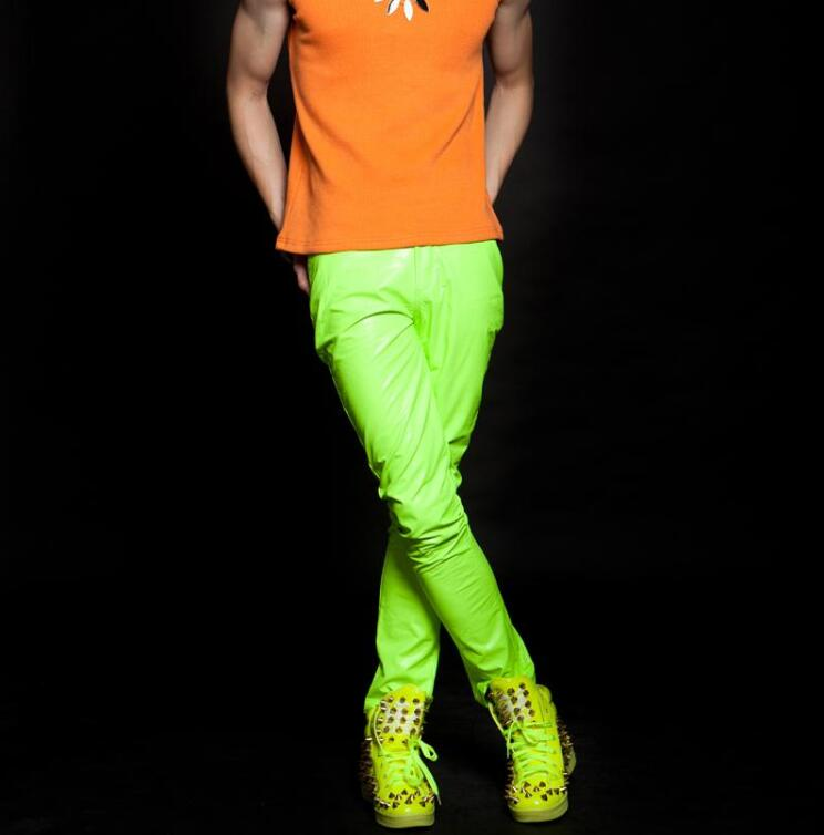 Fluorescent green casual pants 1