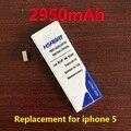 Hsabat 2950 mah substituição bateria do telefone móvel para iphone 5 iphone5 iphone 5g