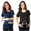 2017 Забавный Материнства Рубашки Темно-Синий Ребенок Смешно Напечатанная Письмом С Коротким Рукавом Беременных Женщин Топы 5 Моделей