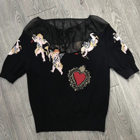 Dressnow летняя черная футболка Женщины 2018 Половина рукава футболка Женская мода slash шеи рубашка